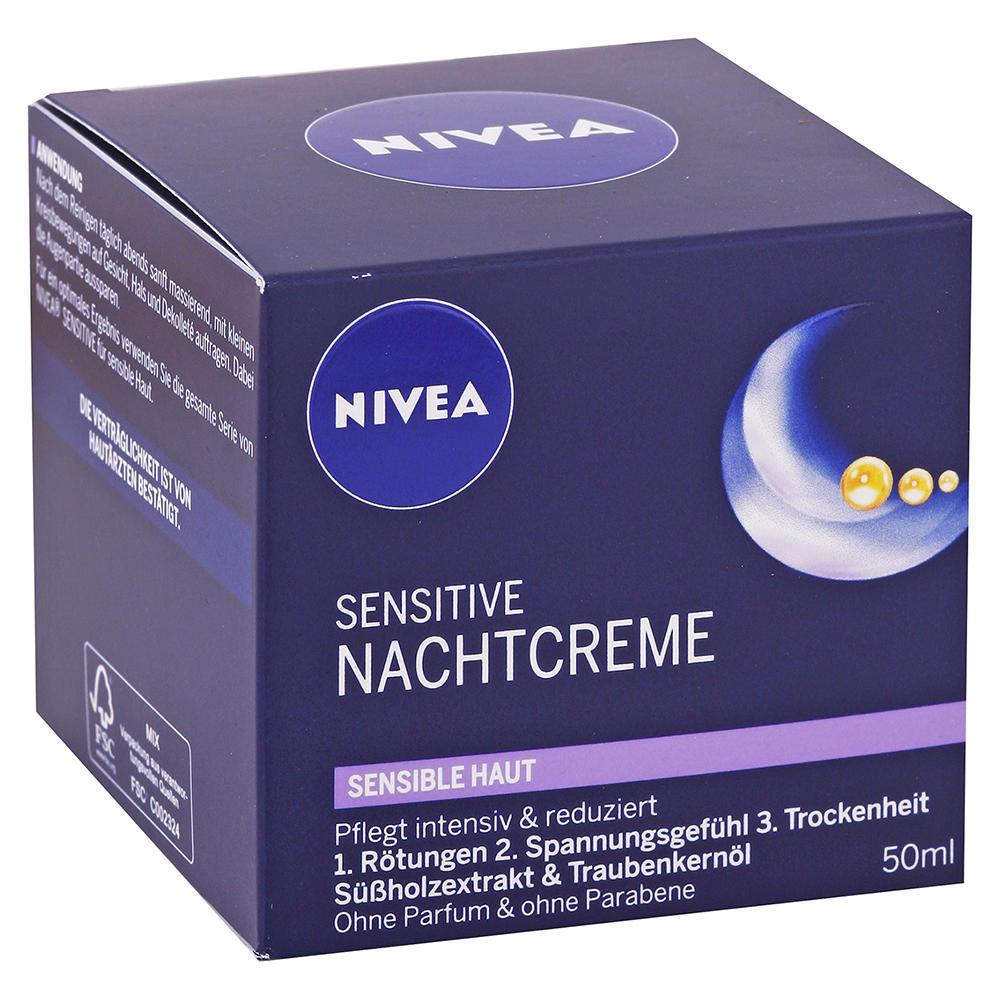 Nivea - Nočný krém pre citlivú pleť Sensitive 50ml
