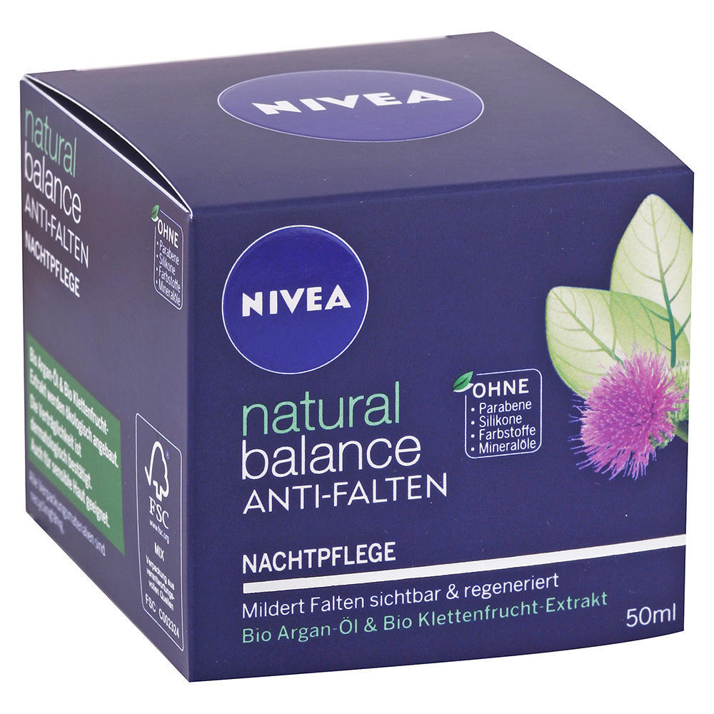 Nivea - Nočný krém proti vráskam Natural Balance 50ml