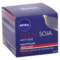 Nivea - Nočný krém proti vráskam Vital Soja 50ml