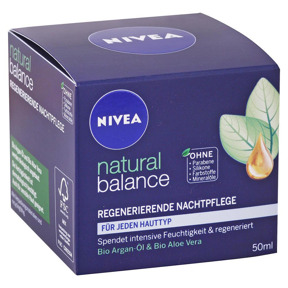 Nivea - Regeneračný nočný krém Natural Balance 50ml